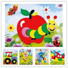 Free shipping 20 designs/lot DIY Cartoon Animal 3D EVA Foam Sticker Puzzle Series E Early Learning Education Toys for Children(China)
