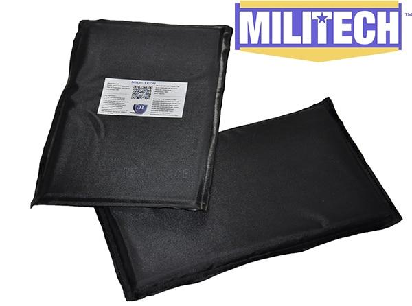 MILITECH 6 x 10 Pair Aramid Ballistic Panel Bullet Proof Plate Inserts Body Armor Cummerbund Side Panel NIJ Level IIIA 3A<br>