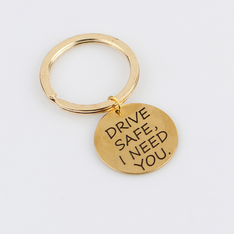 New-Letter-DRIVE-SAFE-I-NEED-YOU-Keyring-Charms-Keychain-Women-Men-Jewelry-Key-Chain-Car