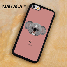 MaiYaCa Funny Cute koala Animal Printed Soft Rubber Mobile Phone Cases For iPhone 5 5S Back Cover For iphone SE Shell Cover(China)