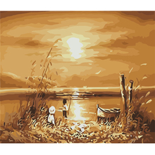 DIY Oil Painting By Numbers Landscape picture living room wall pictures Coloring By Numbers wall art canvas fashion poster gift(China)