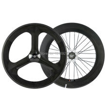 700C Carbon Wheelset Front 70mm 3 Spoke Wheel Rear 88mm Carbon Wheels Clincher Road Bike Wheels