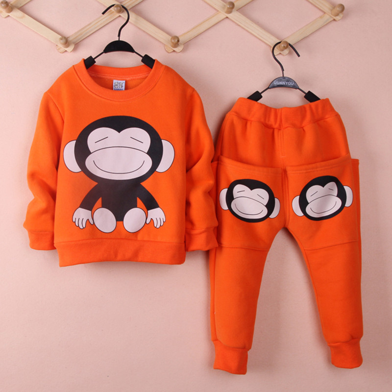 Childrens clothing suits the boys and girls long-sleeved fleece trousers two suit casual sport suit + movement<br><br>Aliexpress
