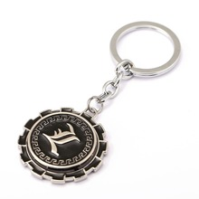 6/pcs MS Jewelry DEATH NOTE Keychain Rotatable Key Rings Holder For Gift Chaveiro Car Key Chain Anime Souvenir