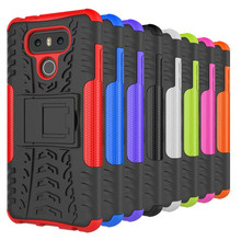 Hot Selling Armor Case With Stand For LG G6/K10 2017/X MAX/X Power/X Power 2/X Style/Stylo 3/V20 Mobile Cell Phone Bag&Case(China)