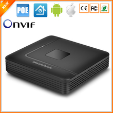 BESDER 48V IEE802.3af Active PoE NVR Recorder Motion Detect Alarm Security Surveillance NVR 4CH 1080P With 4CH PoE Port