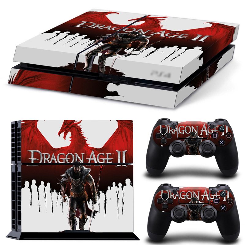 Dragon Age II 2 Vinyl Decal Skin Sticker for Play Station 4 PS4 Console + 2 Controllers Skins + LED Lightbar