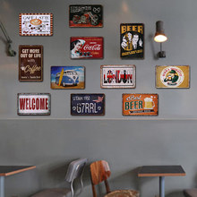 Min Order 3PCS Car License Metal Plate Vintage Home Decor Tin Sign Bar\Pub\Hotel Decorative Metal Sign Art Painting Metal Plaque(China)
