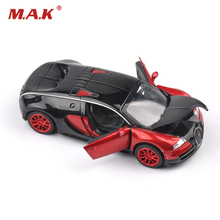 Collectible Model Cars Bugatti Veyron 1:32 Alloy Diecast Mini Model Cars With Light & Sound Toys For Boys Brinquedos Gifts(China)