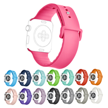 Apple Watch Sport Band 38mm 42mm,  Soft Silicone Replacement iWatch Bands Sport Strap with for Apple Watch Sport, S