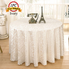 Jacquard Floral Rectangular Tablecloth Home Hotel Dining Table Linen for Wedding Event Outdoor Celebration Party Decor 15 Size