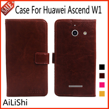 AiLiShi Flip Leather Case For Huawei Ascend W1 Case Book Style Protective Cover Phone Bag Wallet 4 Colors In Stock !(China)