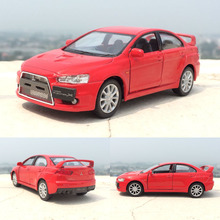 1:36 2008 Mitsubishi Lancer Evolution X Car Diecast Metal Alloy Car Model Toy With Pull Back Car For Kids Gift Free Shipping(China)