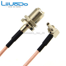 100 Pieces RF Connector F to CRC9 Cable F Female to CRC9 Rightangle RG316 RG174 Pigtail Cable 15cm(China)