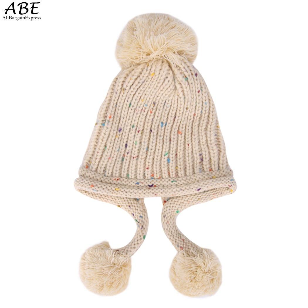 New 2016 Fashion winter hat women knitted beanies Lovely Girl Hats Knitting Warm Cute Winter crochet caps womenÎäåæäà è àêñåññóàðû<br><br><br>Aliexpress