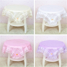 Elegant  Polyester  Lace Tablecloth For Wedding Party Home Table Linen Cloth Cover Textile Decoration