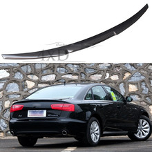 For Audi A6 C7 Spoiler A6 Carbon Fiber Rear Spoiler Trunk Wing 2012 2013 2014 2015 2016 2017