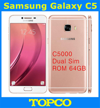 "Samsung Galaxy C5 Duos GSM 4G LTE Original Unlocked Android Dual Sim Mobile Phone C5000 Octa Core 5.2"" 16MP RAM 4GB ROM 64GB(China)"