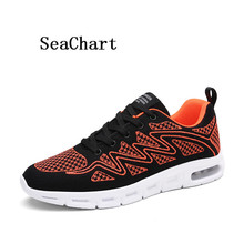 SeaChart Men's Running Shoes Walking Jogger Sport Outdoor Air Men Sneakers Fly Wire Fabric Mesh Woven Jumping Summer Breathable(China)