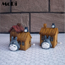 Antique Carved House Music Box Neighbor Totoro Creative Music Box Star Wars Wooden Hand Crank Theme Furnishing Articles
