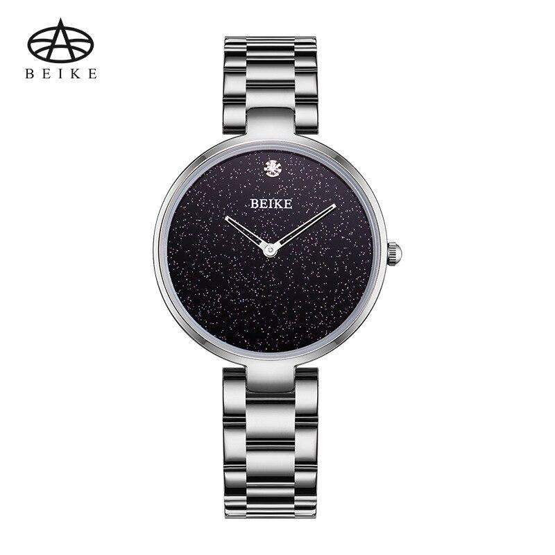 BEIKE Relogio Feminino Women Watches Luxury Famous Top Brand Ladies Fashion Casual Dress Watch Sliver Clock Quartz Wristwatches<br>