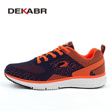DEKABR 2017 Summer Style Breathable Outdoor Men Walking Shoes New Sneakers Men Mesh Shoes High Quality Brand Lace Up Men Shoes