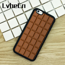 LvheCn TPU Phone Cases For iPhone 6 6S 7 8 Plus X 5 5S 5C SE 4 4S ipod touch 4 5 6 Cover Chocolate Bar(China)