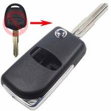 2 Button Blank Modified Flip Folding Remote Key Case Shell for Mitsubishi Outlander with Right blade s534 With logo
