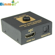 Top Quality Black HDMI ARC Adapter to HDMI & Optical Audio Converter 4k 3D 1080P CEC with USB to DC 5.5mm Power Cable FE9