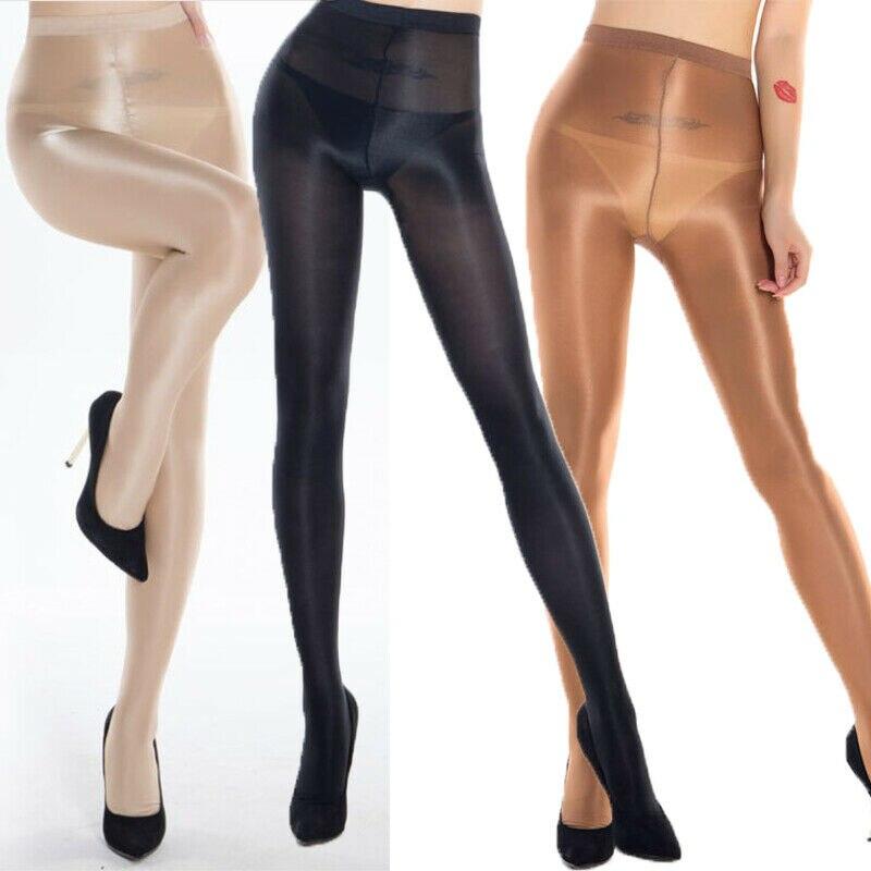 Women Rhinestone Slim Tight Stockings Stretch Glitter Pantyhose Light COFFEE