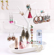 Free shipping Multifunctional Tree-shape plastic Jewelry Holders Accessories & Earrings Holder Nice Storage Rack for jewelry