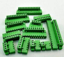 10sets Terminal plug type ht5.08 5.08mm pitch connector pcb screw terminal blocks connector Right Angle 2/3/4/5/6/7/8P Green 10A(China)