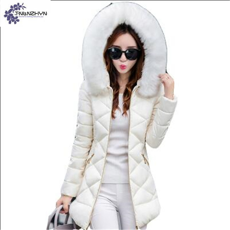 TNLNZHYN NEW Women clothing warm Cotton coat winter fashion hooded high-end large size Long sleeve female Cotton Outerwear QQ343Îäåæäà è àêñåññóàðû<br><br>