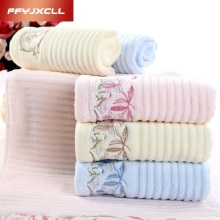 3 color 4pcs 34*75cm Embroidered 100% soft cotton brand face Flower towel 100% cotton quick dry Wholesale beach towels