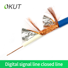 OKUT  Cable television line four shielded digital signal cable  closed line satellite TV line