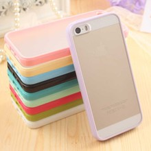 Ultra Thin Fashion Cute Candy Color Matte Hard Plastic Cover Case for iPhone 4 4S 5 5S 6 6S 7 Plus Mobile Phone Bag Cases Capa(China)