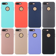 Case For Apple iPhone 7/7 Plus/6/6s Plus/5/5s Cover 2 in 1 Candy colorful Armor TPU+PC Soft ultra thin phone Casing funda coque