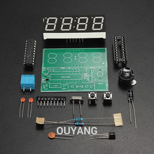 High Quality C51 4 Bits Electronic Clock Electronic Production Suite DIY Kits c51 electronic clock()