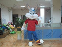 EVA head cute bunny mascot costumes easter rabbit costumes white bunny costumes export high quality Bugs Bunny Costume