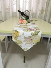 free shipping  Thick canvas table runners, tablecloths cotton peony  on sale
