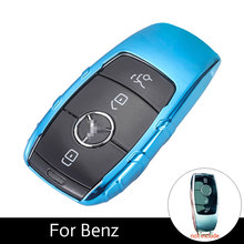 ATOBABI TPU Car key Case Cover Mercedes Benz E Class E300 2017 Smart Keys TPU 3 Buttons Auto Key Protection Case Car Styling
