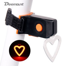 Deemount Bicycle Tail Light Bike Hot New Seat Post Visual Warning Lamp Round Heart Shape USB Charge MTB Lantern COB LED
