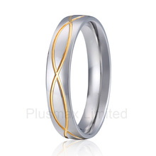 high quality Best China factory vintage jewelry gold color elegent pattern wedding band finger rings(China)