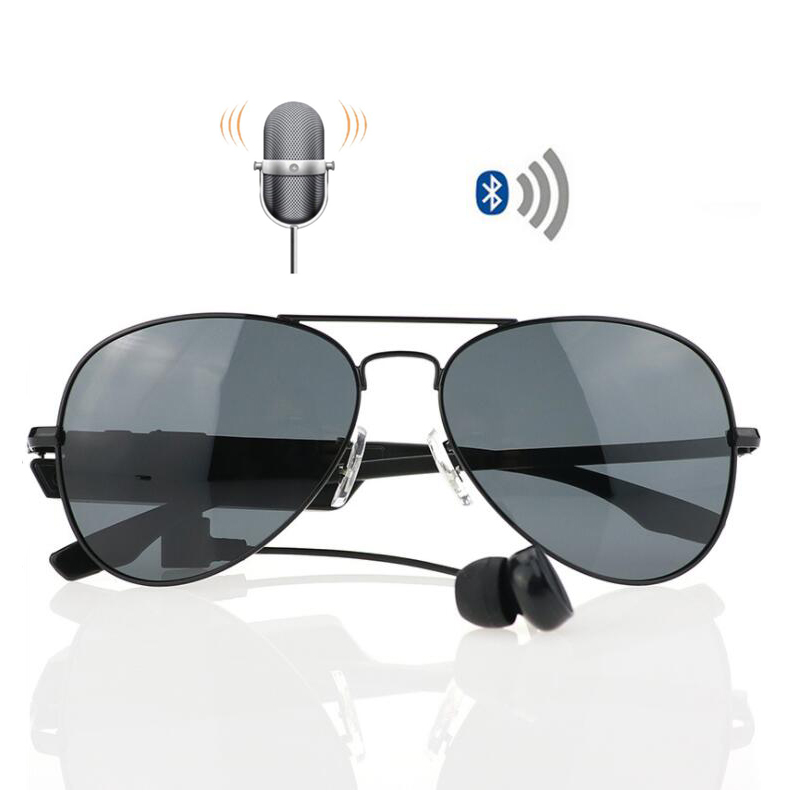 K3 Bluetooth Wireless Sunglasses Earphone Voice Control Smart Polarized Glasses Earbuds Stereo Music Support Calling Sunscreen<br>