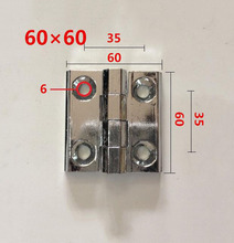 Zinc alloy hinge electric box cabinet  furniture hinges 60*60mm