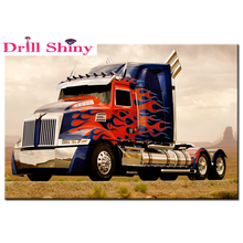 DIY Diamond Painting Truck stickers 5D Diamond Embroidery Art paintings Picture Of Rhinestones Cross-Stitch scenery Home Decor