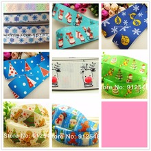 1472020 ,22mm 10 yards Cartoon Christmas Series printed grosgrain ribbon,Clothing accessories,DIY jewelry wedding package(China)