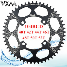 VXM Bicycle Crank 104BCD 40/42/44/46/48/50/52T Mountain Bicycle Chainwheel MTB bike crankset Aluminum Chainring Bicycle Parts(China)