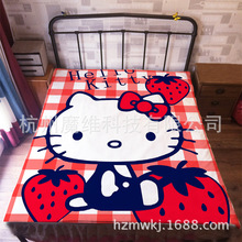 120*200cm Japan Anime Cute Kitty Cat Flannel Blanket on Bed Mantas Bath Plush Towel Air Condition Sleep Cover bedding