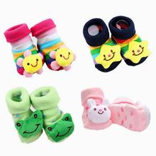 1 Pair cotton Baby socks rubber anti slip floor cartoon kids Toddlers autumn spring Fashion Animal newborn Cute 20 Patterns(China)
